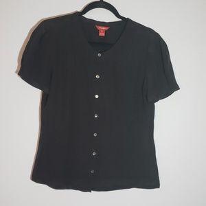 Sundance 100% Silk Black Blouse | Size 10